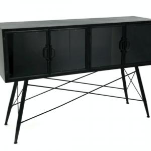 Four Corners Metal and Glass Display Unit