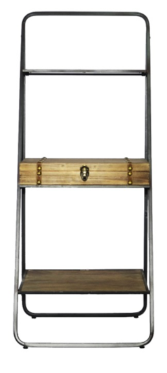 Four Corners Metal and Wood Cutlery Display Unit