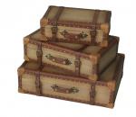 Four Corners Decorative Suitcases Set of 3