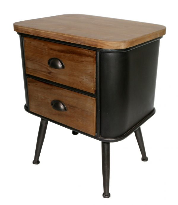 Four Corners Wood and Metal Atwood Pedestal