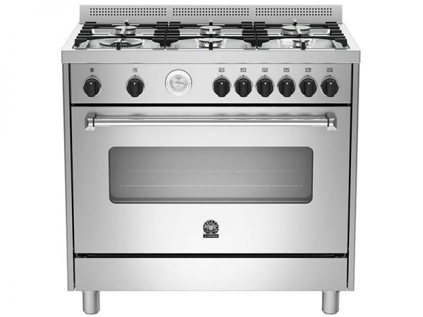 La Germania Americana 90 cm Gas Hob & Gas Oven / Gas Grill Stainless Steel AMS95C81BX