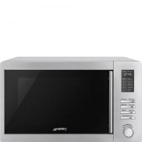 Smeg 60cm Freestanding 1000W Combination Microwave Oven MOE34CXI