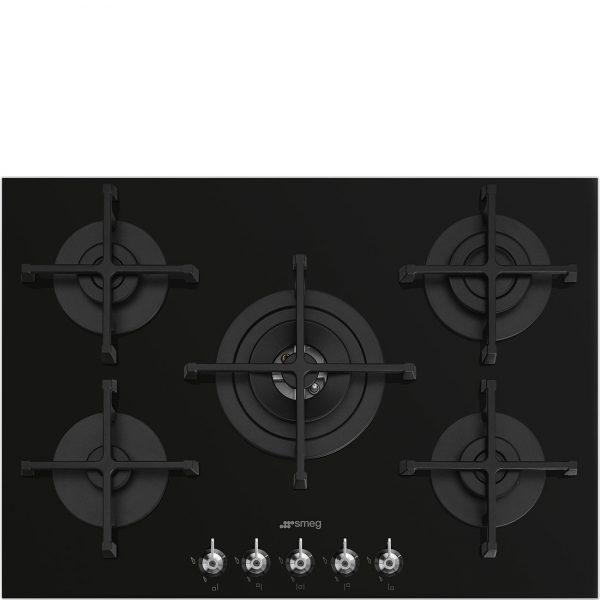Smeg 70/75cm Gas Hob Black